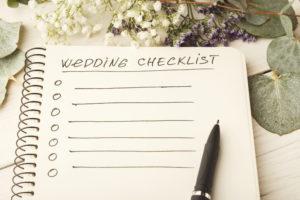 Wedmin checklist