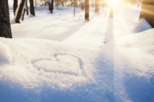 Winter Wedding snow heart